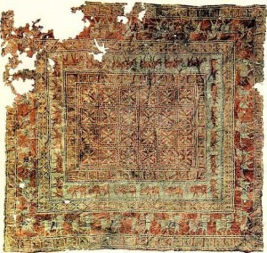 Pazyryk antique rug