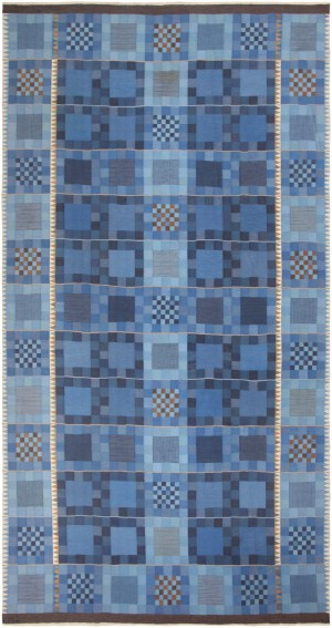 Vintage Transitional Carpet by Swedish Ingrid Dessau